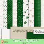"""Бумага и веллум (калька) """"Новый год в зелёном!"""""""