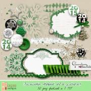 """Элементы """"Новый год в зелёном!"""""""